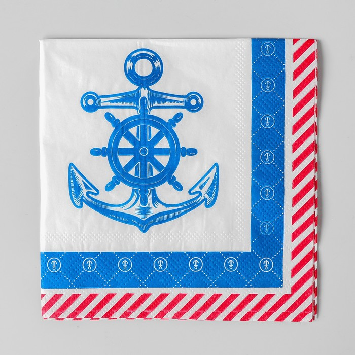 Cалфетки «Морское путешествие», 25х25см, набор 20 шт.