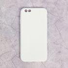 Чехол LuazON для iPhone 6/6S, материал TPU, белый
