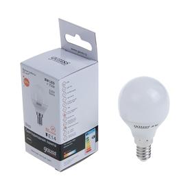 Лампа светодиодная Gauss, Elementary, G45, 8 Вт, E14, 520 Лм, 3000 K, теплый белый