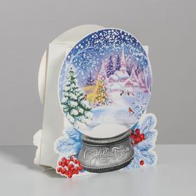 Пакет подарочный «С Новым Годом», 13 × 15х 5,5 см Ош