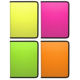 Папка пластиковая В5, молния вокруг, Erich Krause, цветная, Glance Neon, МИКС Ош