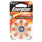 Батарейка цинковая Energizer, A13 (PR48)-8BL, для слуховых аппаратов, 1.4В, блистер, 8 шт.