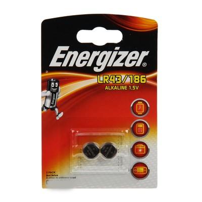 Батарейка алкалиновая Energizer, LR43 (186)-2BL, 1.5В, блистер, 2 шт. - Фото 1