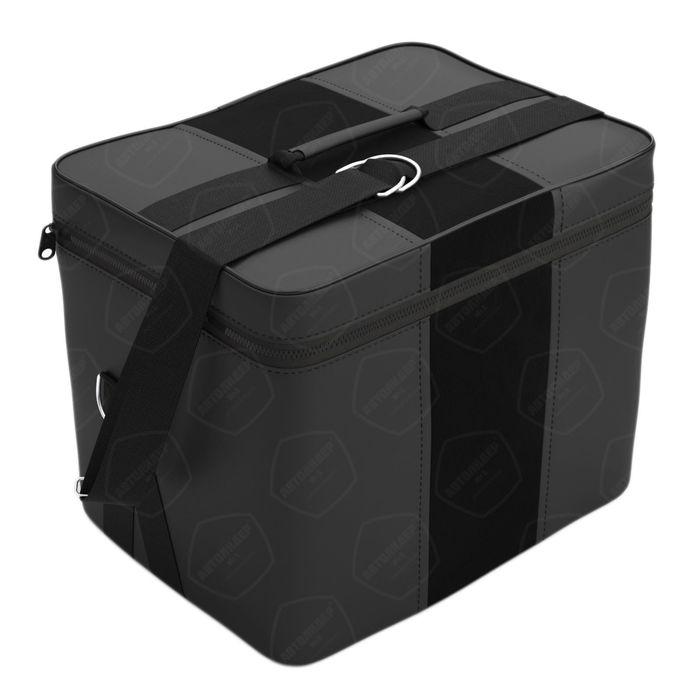 Автомобильная сумка, экокожа, алькантара, чёрная