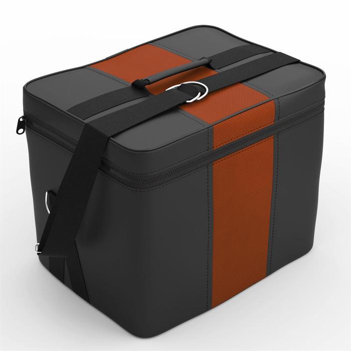 Автомобильная сумка, экокожа, чёрно-рыжая