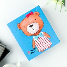 Фотоальбом на 40 фото 10х15 см 'Нарядный медведь' в коробке МИКС 18,5х16х4,7 см Ош