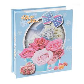 Фотоальбом на 40 фото 10х15 см 'Корзинка с цветами' в коробке МИКС 18х15,5х4 см Ош