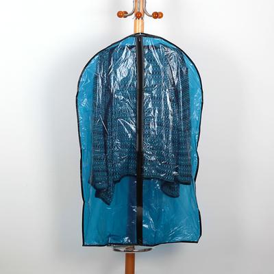 Чехол для одежды Доляна, 60×87,5 см, полиэтилен, цвет синий - Фото 1