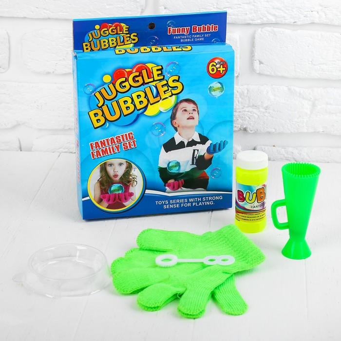 """Эластичные пузыри """"Весело играем"""", в наборе раствор, перчатки,тарелочка, выдуватели"""
