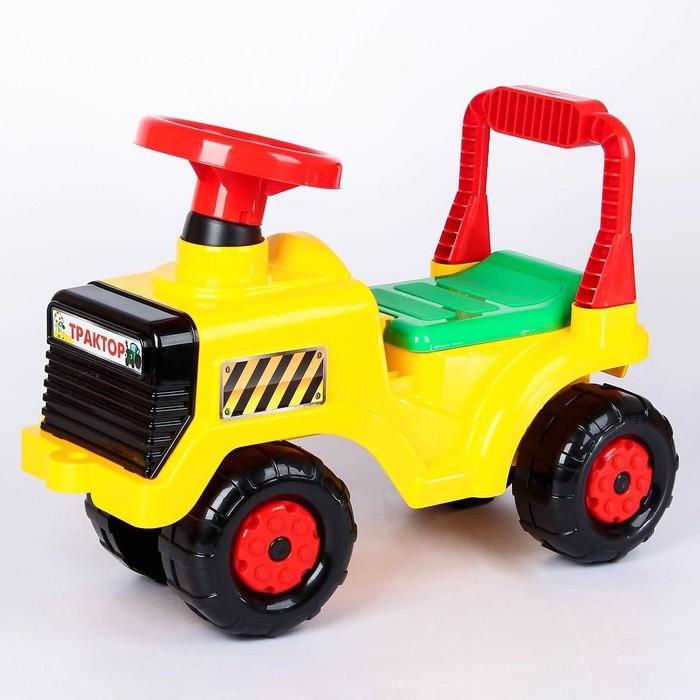 """Машинка """"Трактор"""", цвет: жёлтый"""