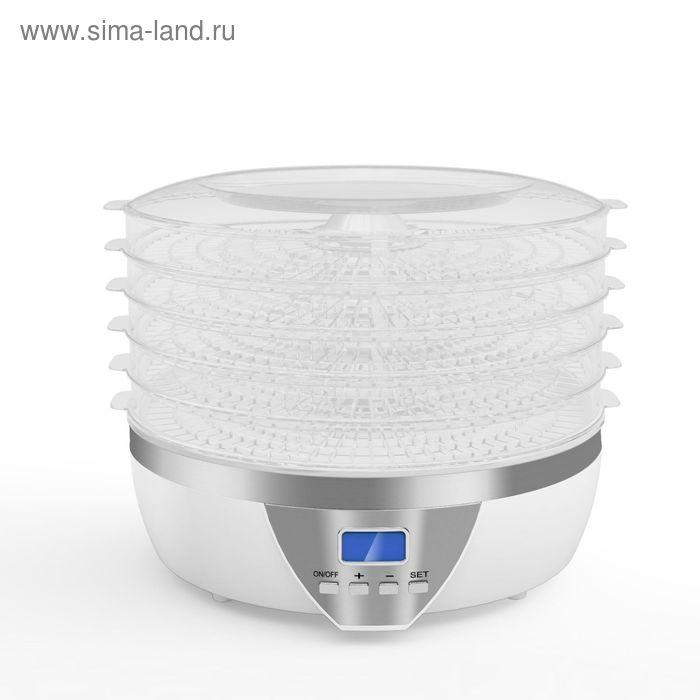 Сушилка для овощей и фруктов Gemlux GL-FD-01R, 500 Вт, 5 поддонов, ЖК-дисплей, белая