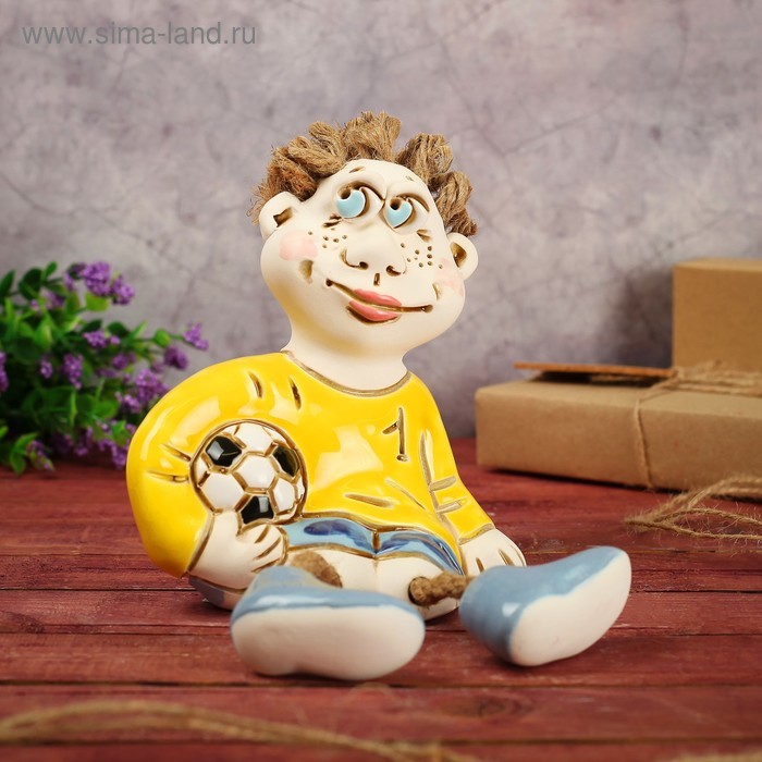 "Статуэтка ""Футболист"", 18 см микс, ручная работа"