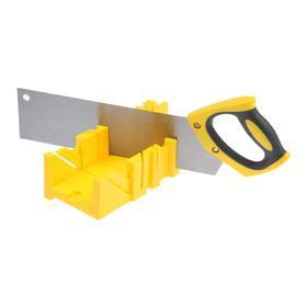 Стусло с ножовкой TUNDRA, стусло 22.5 45 90°, 300 х 80 мм, ножовка 350 мм, 12 TPI
