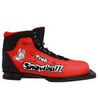 Ботинки лыжные TREK Snowball NN75 ИК, цвет красный, лого чёрный, размер 30