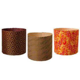Набор бумажных форм для выпечки куличей «Пасхальный», объём 500 мл, 3шт