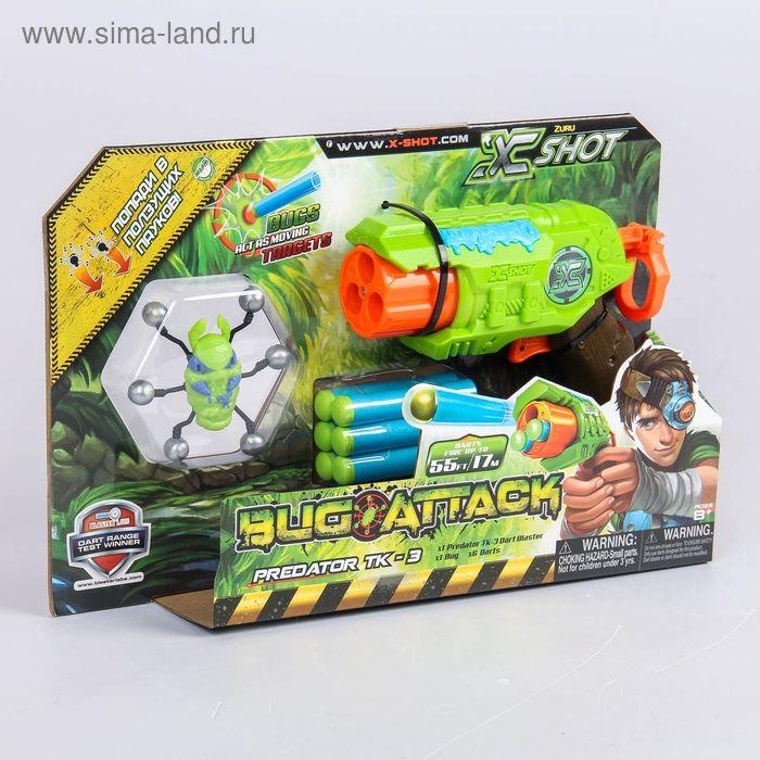 Бластер с мишенями «Атака Пауков», 6 патронов, 1 паук-мишень