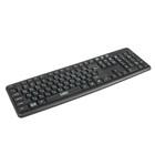 Клавиатура CBR KB 109, проводная, мембранная,  кабель 1.8 м, 104 клавиши, USB, чёрная