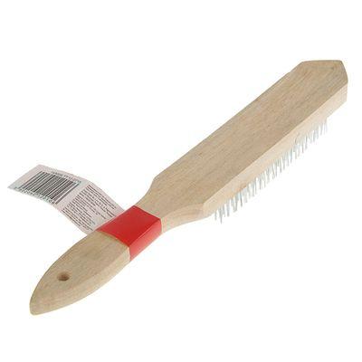 Щетка проволочная Top Tools, 6 рядов проволоки, деревянная рукоятка