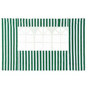 Стенка зеленая с окном для садового тента-шатра №4110 Ош