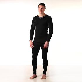 Комплект мужской (джемпер, кальсоны) термо М-597-18, цвет чёрный, р-р 46