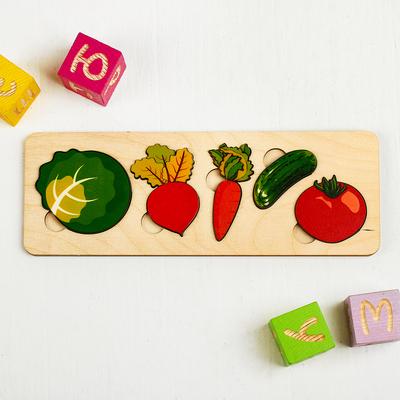 Рамка-вкладыш «Овощи», 5 элементов - Фото 1