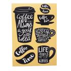 """Наклейки Decoretto """"Кофе каждый день"""" 35х50 см"""
