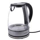 Чайник электрический FIRST FA-5406-9, 2200 Вт, 1.8 л, стекло, подсветка, черный
