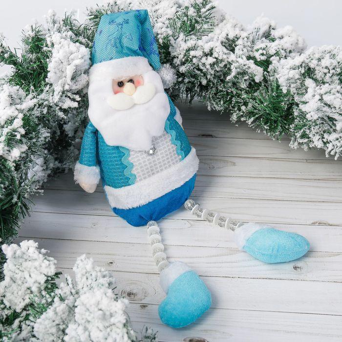 """Мягкая игрушка """"Дед Мороз"""" колпак с оленями 12*50 см"""