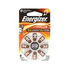 Батарейка цинковая Energizer, A312 (PR41)-8BL, для слуховых аппаратов, 1.4В, блистер, 8 шт.
