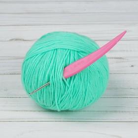 Крючок для вязания, d = 2,5 мм, 14 см, цвет розовый Ош