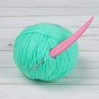Крючок для вязания, d = 3 мм, 14 см, цвет розовый
