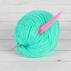 Крючок для вязания, d = 3,5 мм, 14 см, цвет розовый