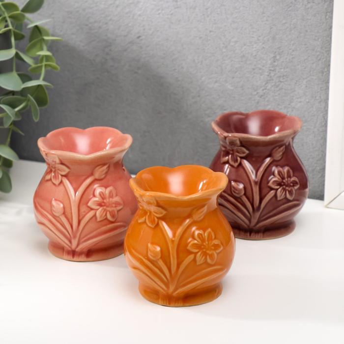 Аромалампа керамика Нарцисс МИКС 7,5х7х7 см