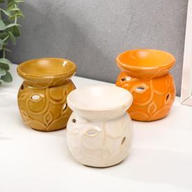 Аромалампа керамика 'Флора'МИКС 8х7,7х7,7 см Ош