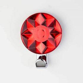 Крючок декоративный «Кристалл» красный