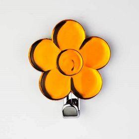 Крючок декоративный «Цветок» жёлтый