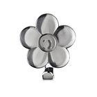 Декоративный крючок «Цветок» серый