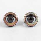 Глаза моргающие с ресничками, полупрозрачные, набор 2 шт, цвет коричневый, размер 1 шт: 1,5 см