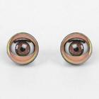 Глаза моргающие с ресничками, полупрозрачные, набор 2 шт, цвет коричневый, размер 1 шт: 1,7 см