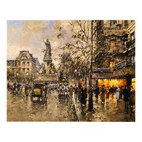Роспись по холсту «Осень в городе» по номерам с красками по 3 мл+ кисти+крепёж, 30×40 см