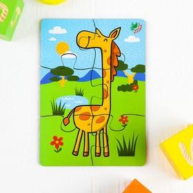 Пазл 6 элементов «Жираф», элемент: 4,7 × 5 см Ош