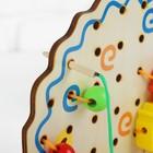 """Шнуровка """"Ёжик с поклажей"""", 82 элемента, 2 шнурка — 80 см, ёжик: 22 × 18,5 см, бусины: 4 × 2,5 см; 1,2 × 1,2 см - Фото 3"""