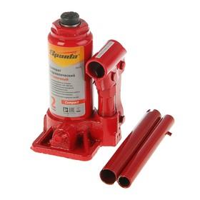 Домкрат гидравлический SPARTA Compact, 2 т, бутылочный, подъем 150–280 мм Ош