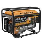 Генератор CARVER PPG-6500, бензиновый, 5/5.5 кВт, 220/12 В, 25 л, ручной старт