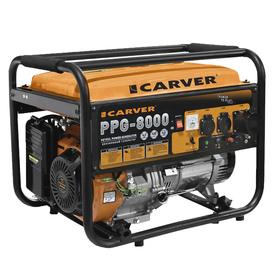 Генератор CARVER PPG-8000, бензиновый, 6/6.5 кВт, 220 В, 25 л, ручной старт