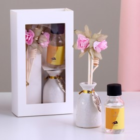 Подарочный набор с аромамаслом 15 мл 'Ваза с цветком', аромат шоколад Ош