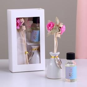 Подарочный набор с аромамаслом 15 мл 'Ваза с цветком', аромат орхидея Ош