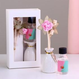 Подарочный набор с аромамаслом 15 мл 'Ваза с цветком', аромат клубника Ош