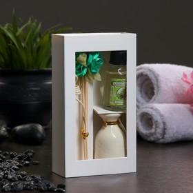 Подарочный набор с аромамаслом 15 мл 'Ваза с цветком', аромат сосна Ош