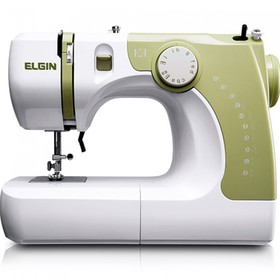 Швейная машина Comfort 14, 70 Вт, 12 операций, полуавтомат, бело-зелёная